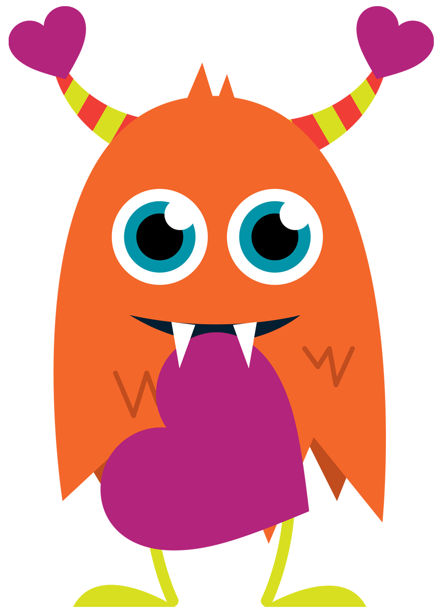 876x1200 Monster Clipart Adorable