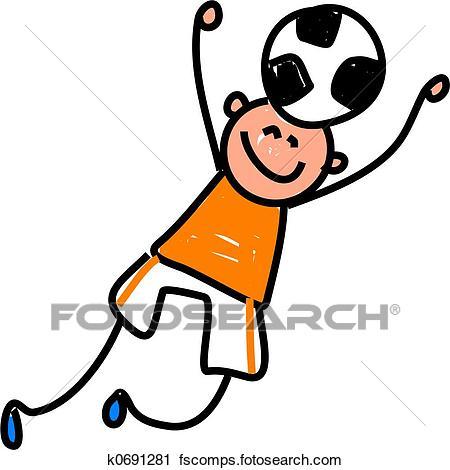 450x470 Clipart Of Soccer Kid K0691281