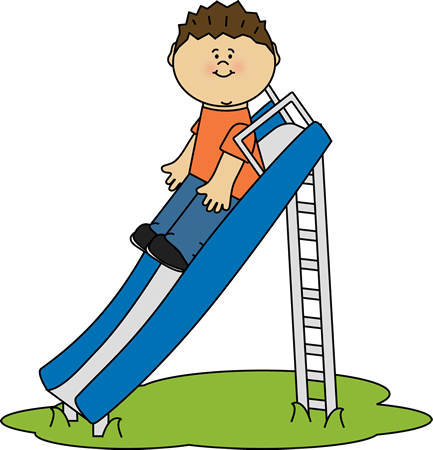 433x450 Kid Playing On A Slide Clip Art Schedule Clip Art