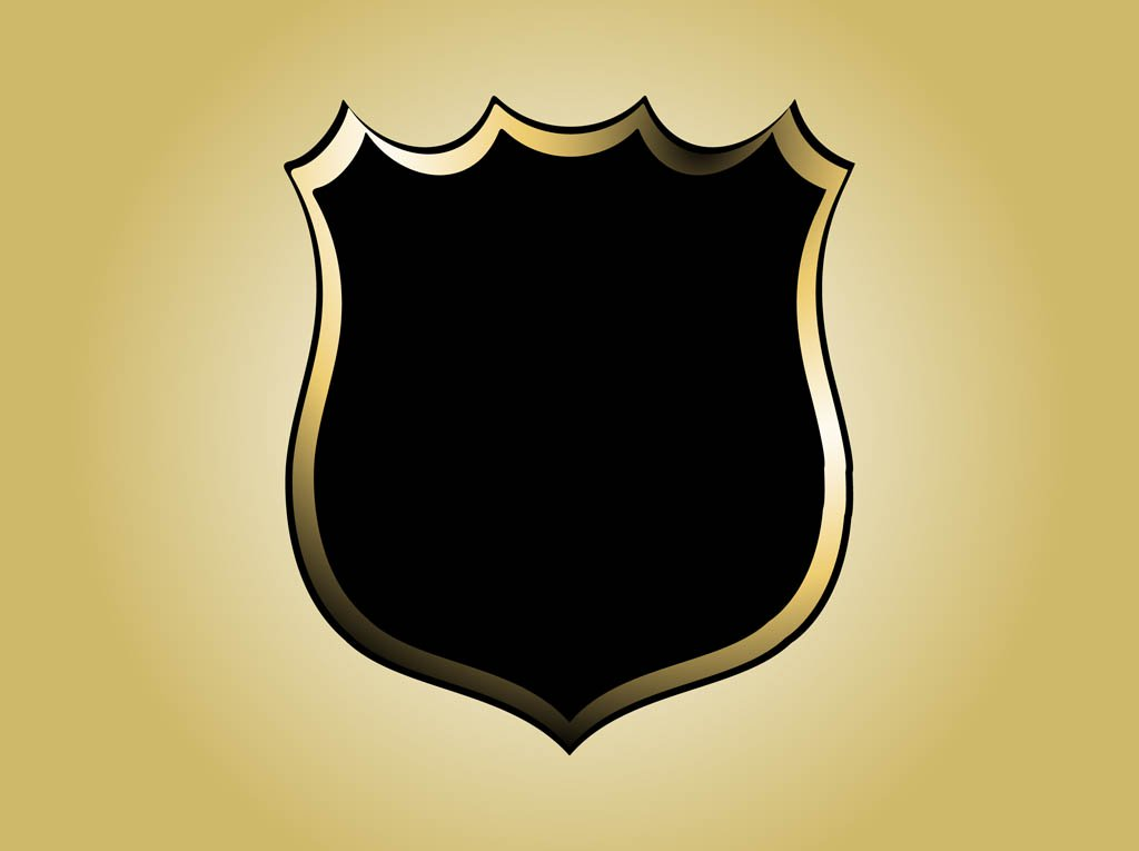 1024x765 Gold Clipart Police Badge