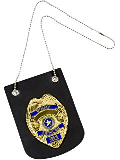 240x320 Dress Up America Pretend Play Police Badge With Chain