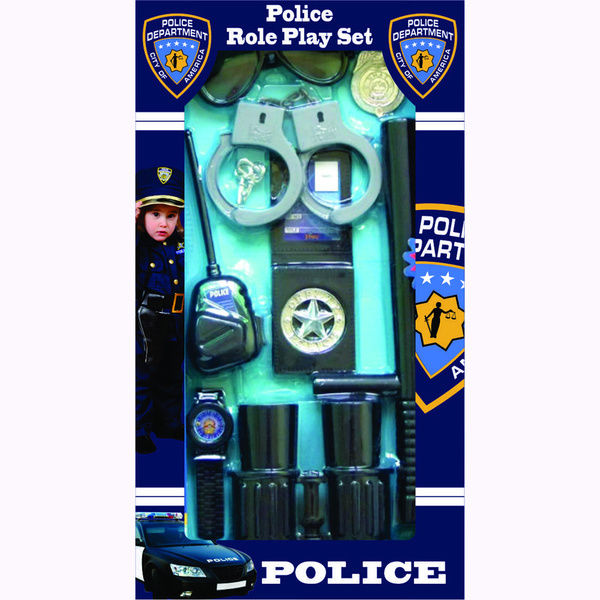 600x600 Toy Police Set Officer Cop Pretend Play Kids Girls Boys Gear