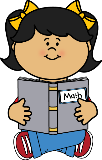 326x510 Kid Reading A Math Book Clip Art