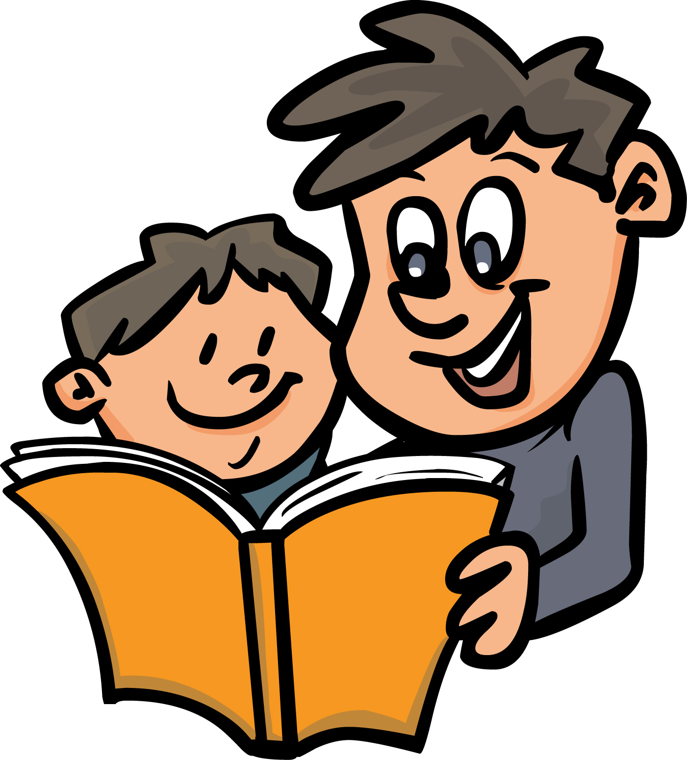 1401x1550 Kids Reading Free Children Read The Books Clipart Image 2