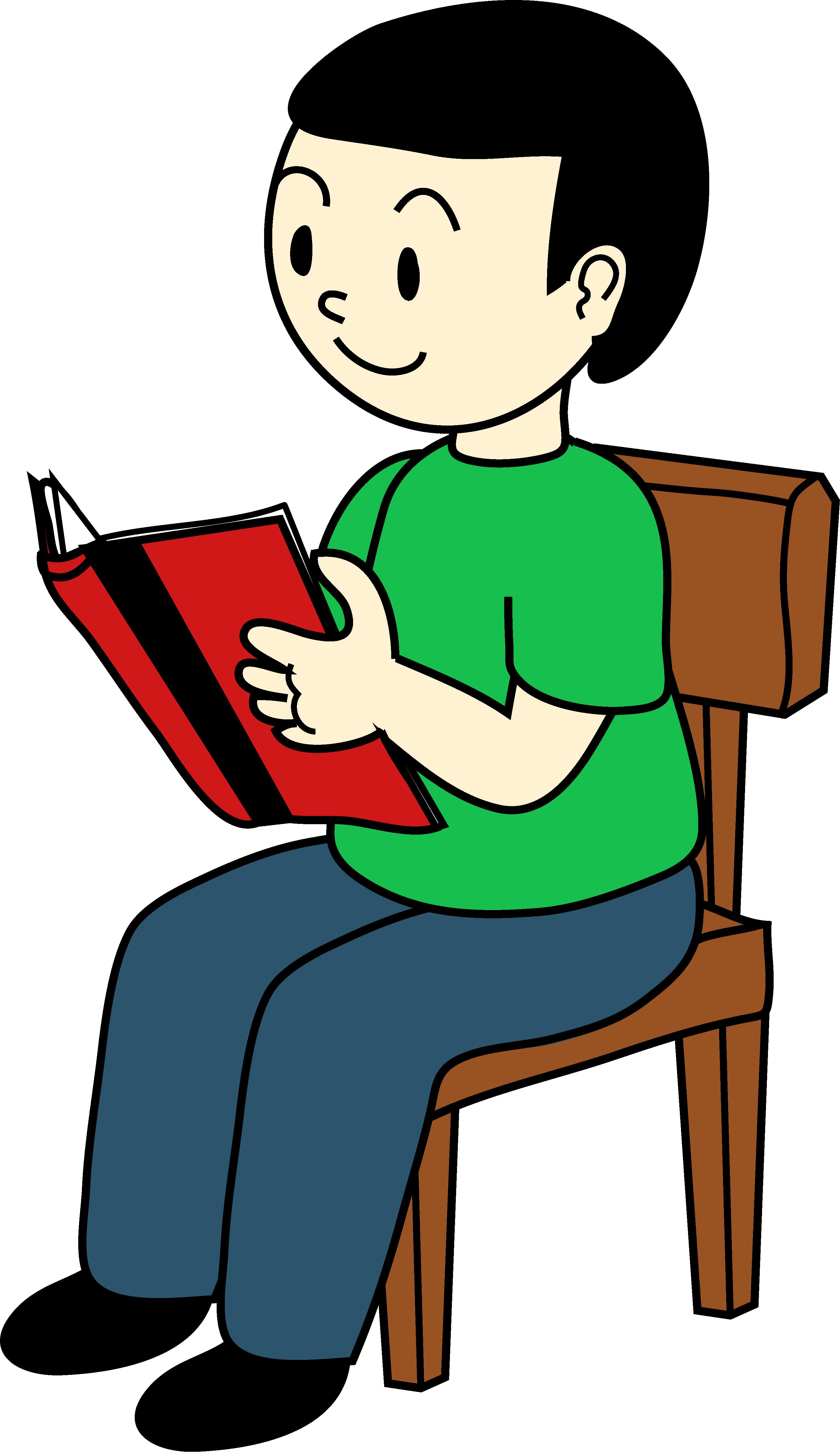2974x5139 Kid Reading Clipart