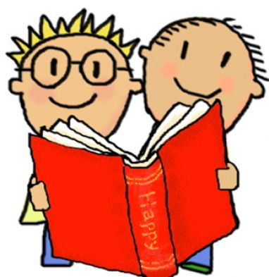 382x393 Kid Reading Free Clip Art Children Reading 4