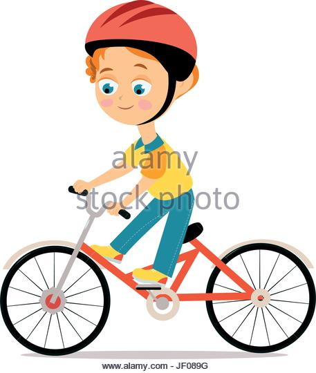 457x540 Cartoon Image Kid Riding Bicycle Stock Photos Amp Cartoon Image Kid