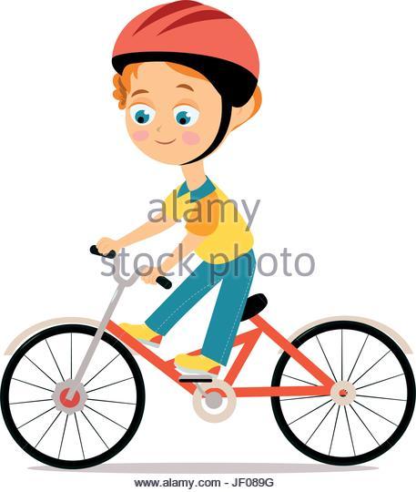 457x540 Cartoon Image Kid Riding Bicycle Stock Photos Amp Cartoon Image Kid