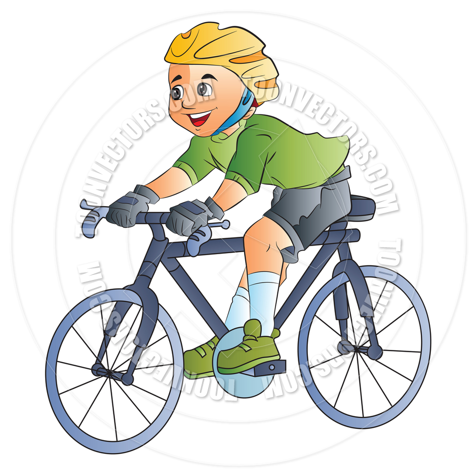 940x940 Cartoon Boy Riding A Bicycle By Morphart Toon Vectors Eps