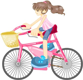 340x329 Kids Riding Bikes Clipart Free Clipart Images 3