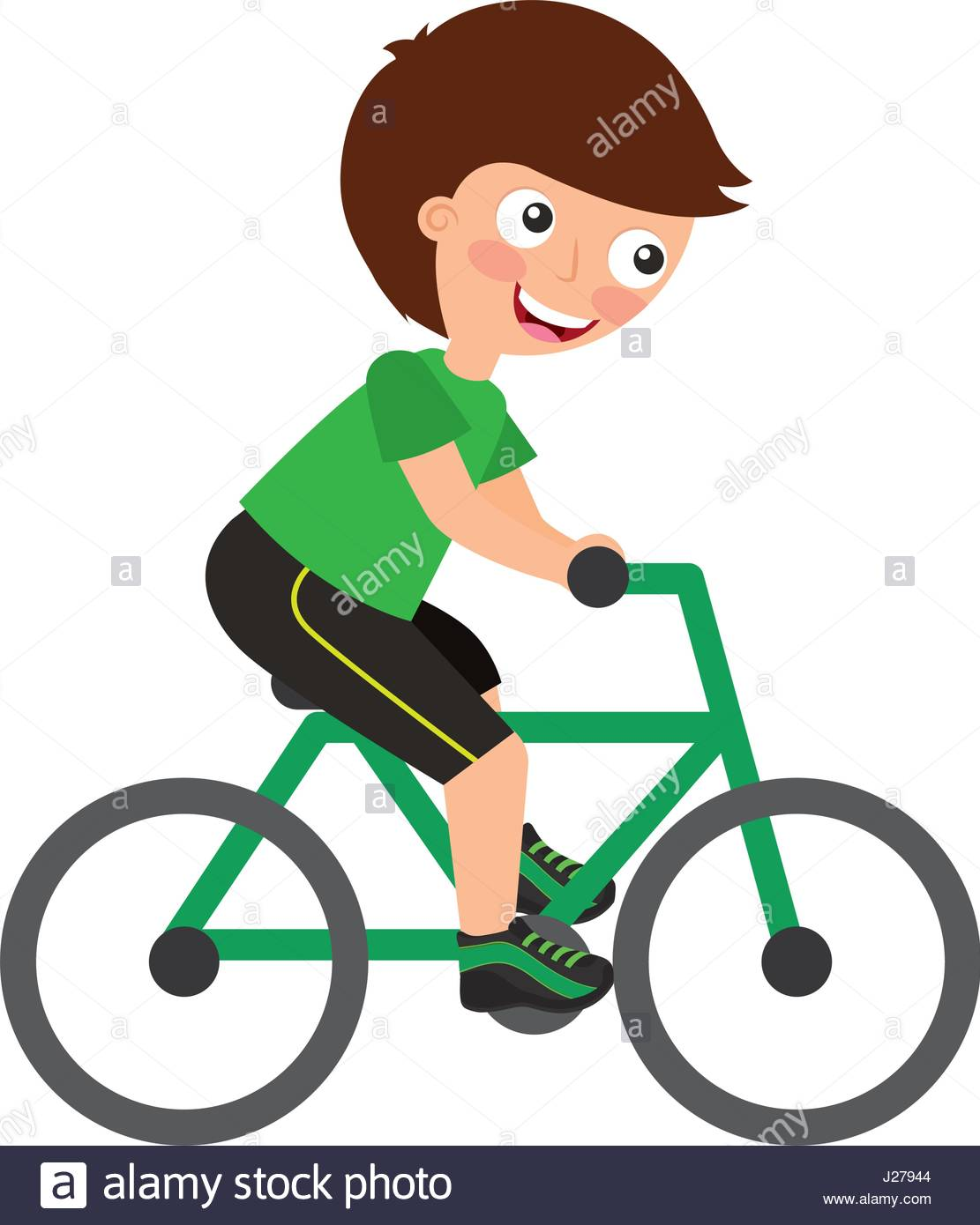 1111x1390 Little Kid Riding Bicycle Stock Vector Art Amp Illustration, Vector