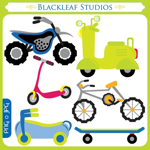 600x600 Two Bikes Clipart