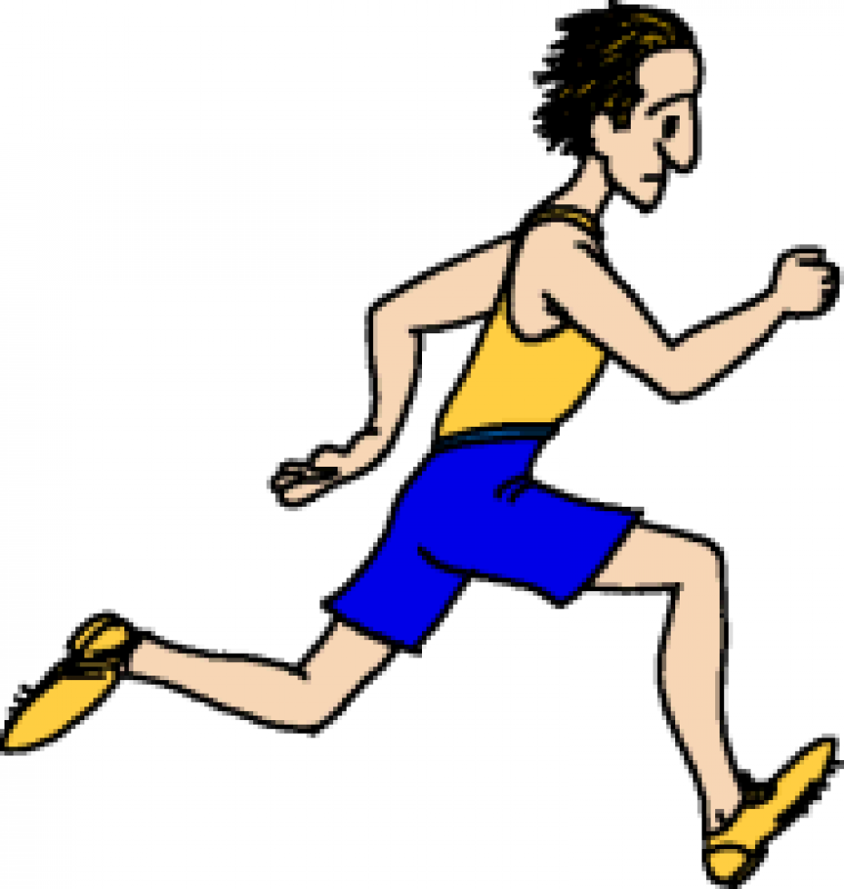 930x979 Free Clip Art Of Person Running Clipart Yellow