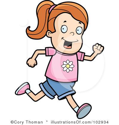 400x420 Little Boy Clipart Run