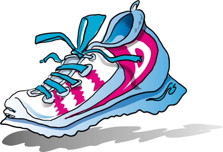 780x532 Walking Shoes Clipart Kid