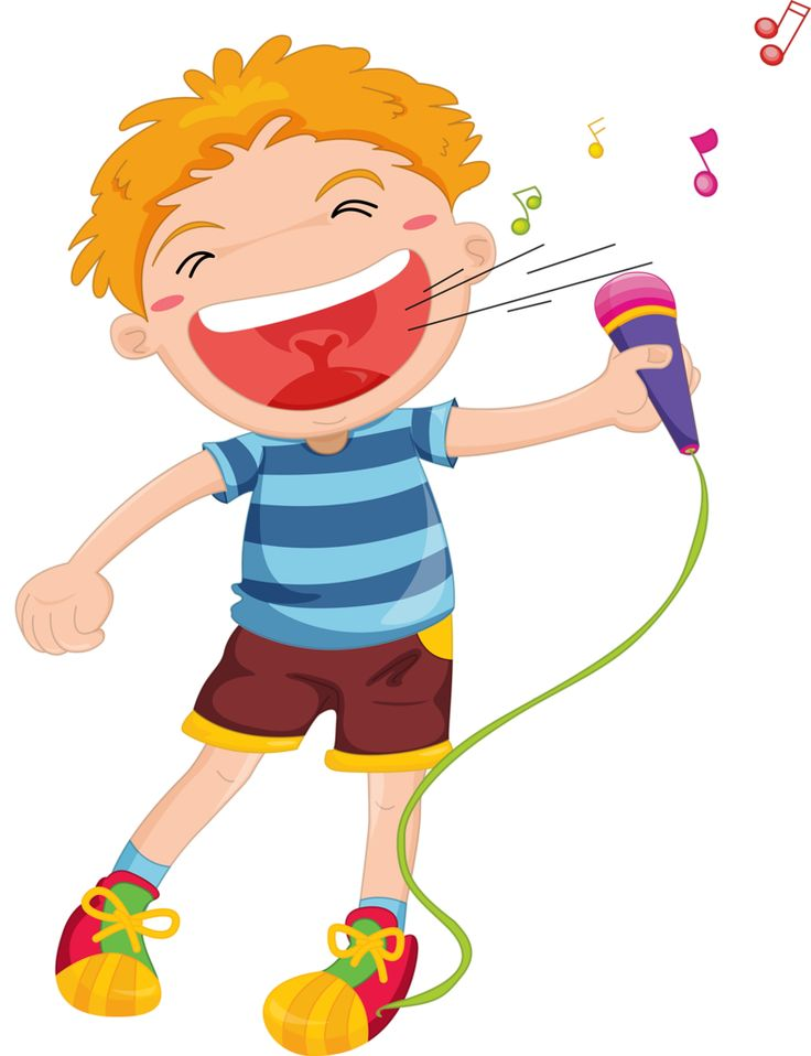 Kid Singing Clipart
