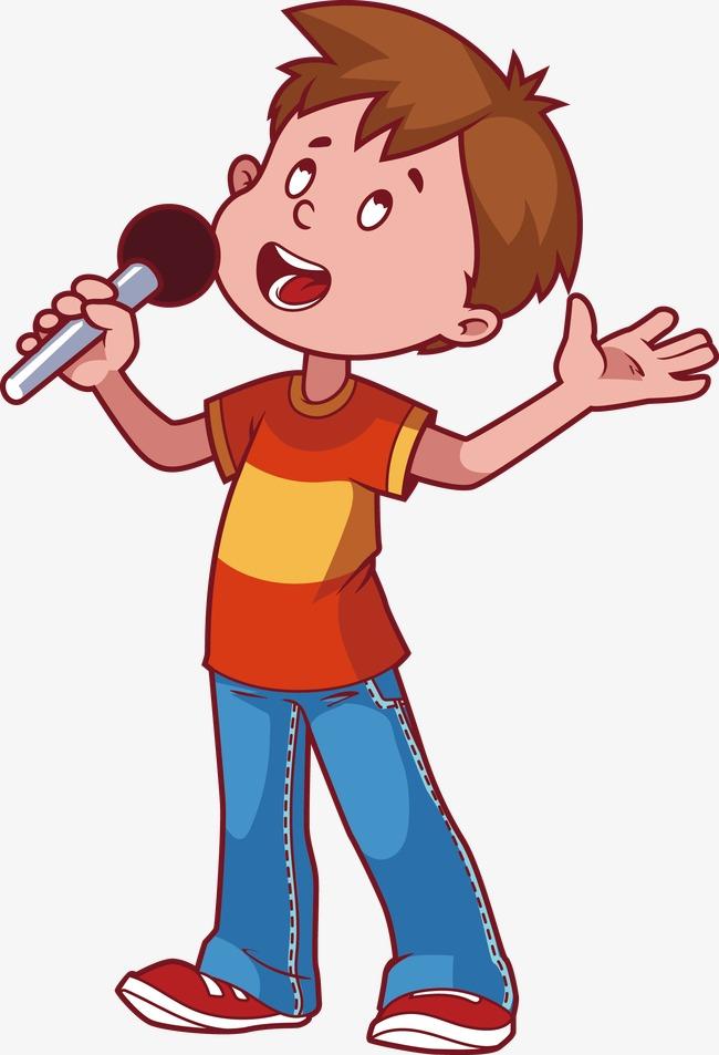 650x953 A Little Boy Singing, Cartoon Kid, Boy, Sing As You Like Png Image