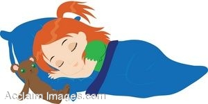 300x150 Royalty Free Clipart Illustration Of A Red Haired Girl Sleeping
