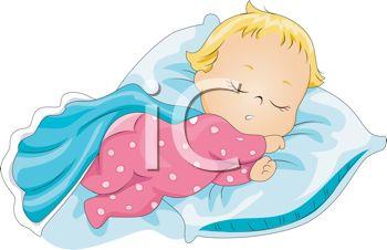 350x226 Baby Girl Clipart Sleeping