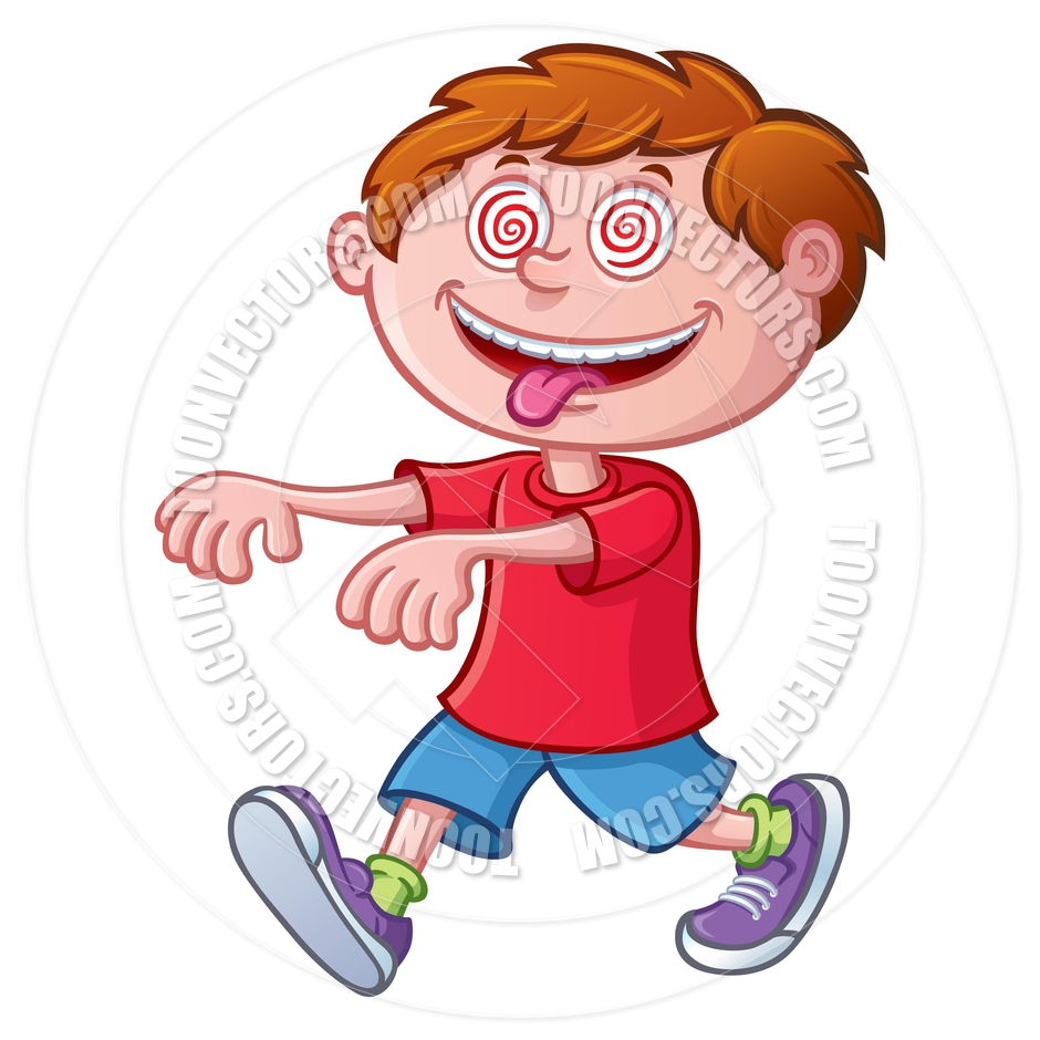 940x940 Kid Walking In A Trance By Rod Savely Toon Vectors Eps