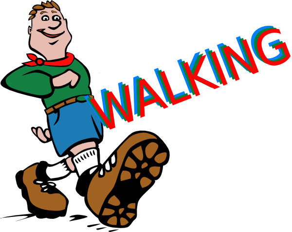 600x477 Walking Clipart Kid