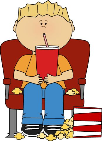 Kid Watching Tv Clipart