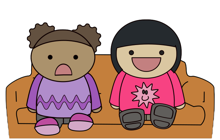 712x454 Free Two Kids Watching Tv Clip Art