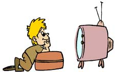 225x142 Kid Watching Tv Clipart