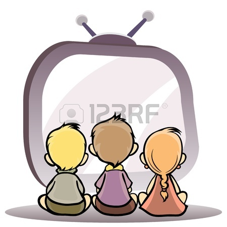 450x450 4,724 Watching Television Cliparts, Stock Vector And Royalty Free