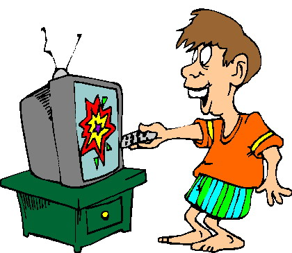 420x365 Watching Tv Television Clip Art