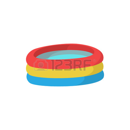 450x450 Kid Inflatable Pool Icon In Cartoon Style On A White Background