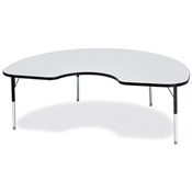 175x175 Kidney Shaped Activity Table