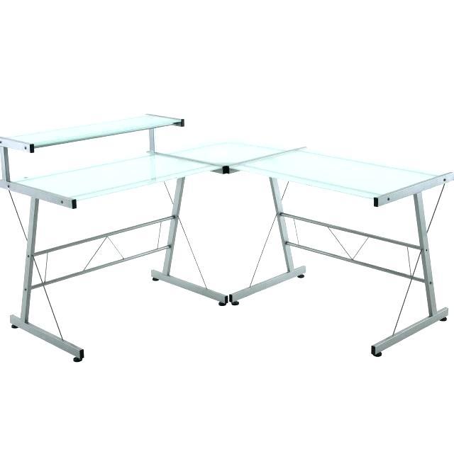 640x641 L Shape Gl Desk Wondrous Shaped Images Rooms