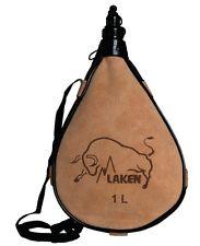 183x225 Laken Spanish Leather Wine Bota Water Canteen Kidney Shape 1l