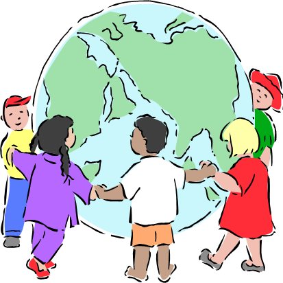 413x412 Children Around The World Clipart Free 8