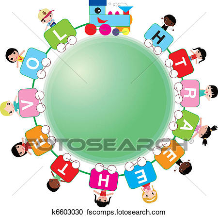 450x447 Clipart Of Kids Around The World K6603030