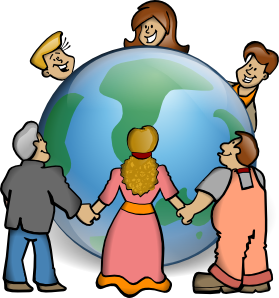 279x298 Embrace The World Clip Art