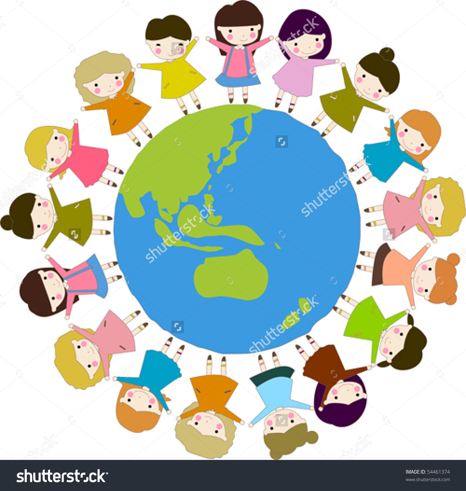 1500x1579 Holding Hands Around The World Clipart