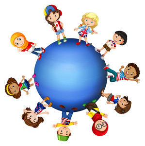299x300 Illustration Of Children All Around The World Royalty Free Stock