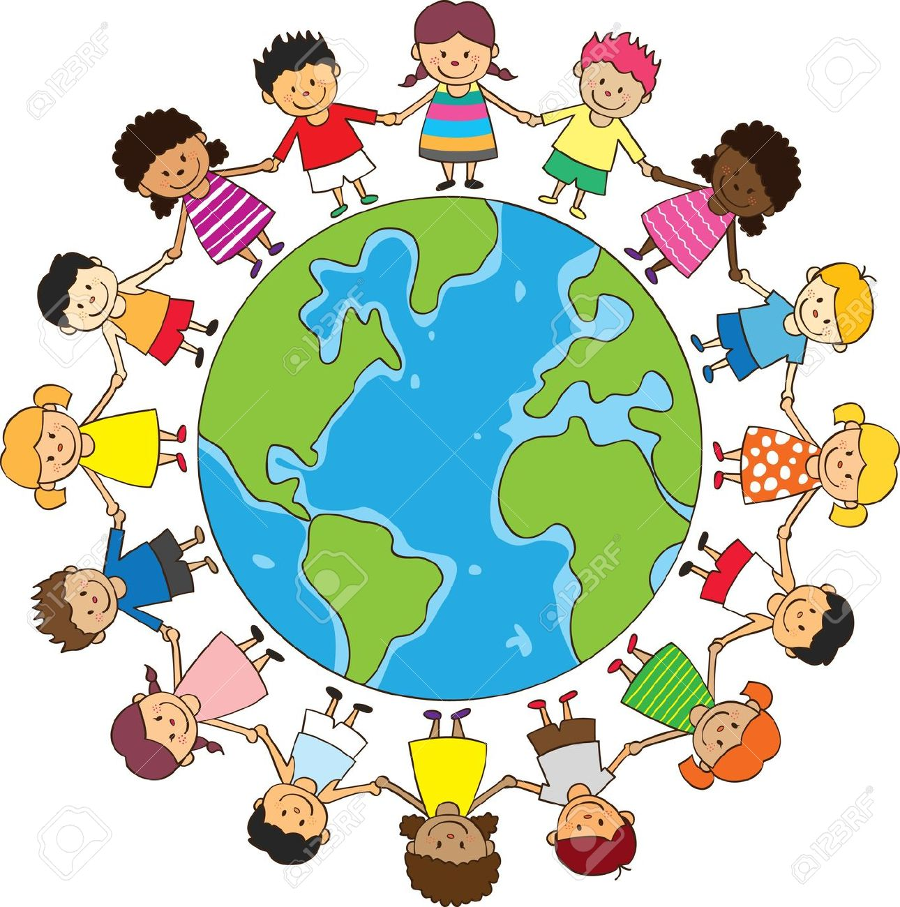 1290x1300 International Children On Globe Clipart