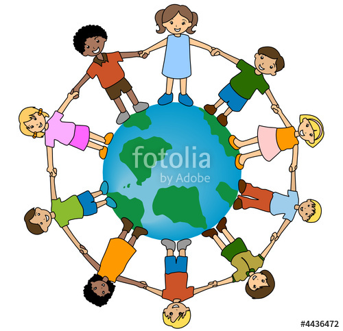500x483 World And Kids Clipart