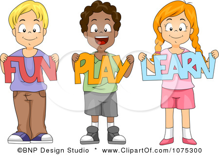 450x319 Cute Kids Playing Clipart
