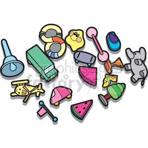 300x300 Royalty Free Messy Kids Room Illustration Graphic 398050 Vector