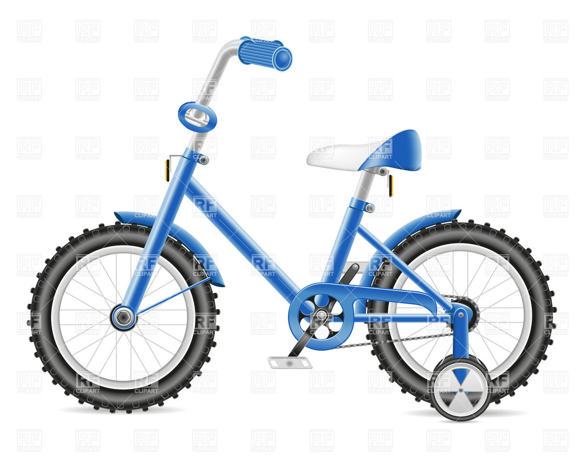 1200x960 Blue Kids Bicycle Royalty Free Vector Clip Art Image