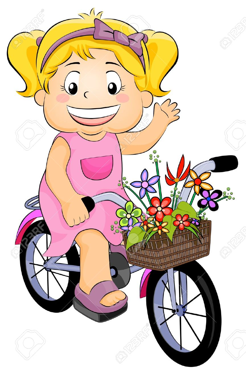 864x1300 Kids Bicycle Clipart