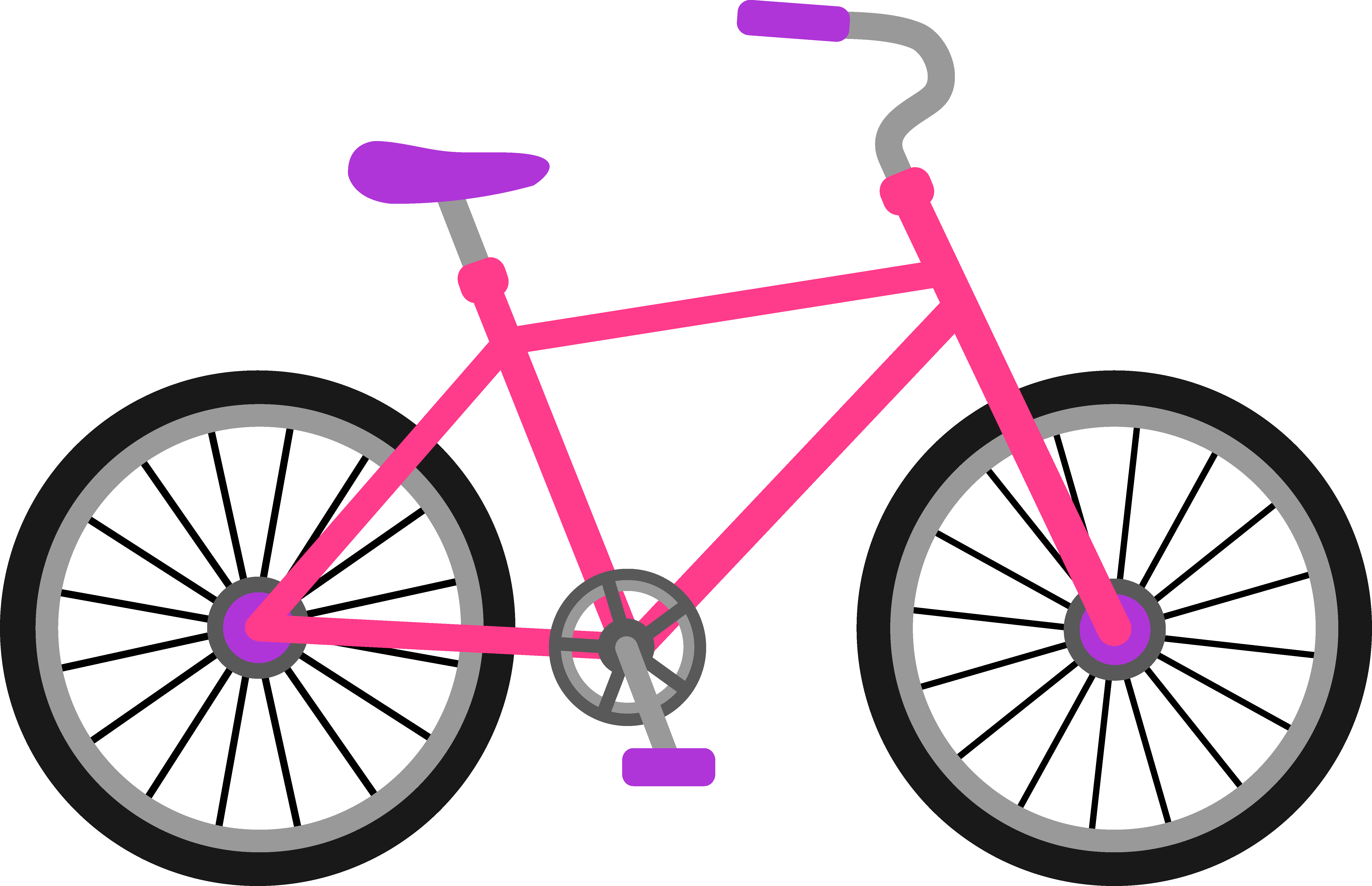 6305x4070 Pink And Purple Bicycle