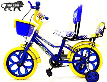 355x275 Buy Loop Kids Bike Bicycle 14 Inches Blue Yellow For Kids 3 5