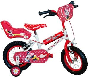 300x263 Disney Minnie Mouse Girls Kids Children Bike 12 Inch Stabilisers