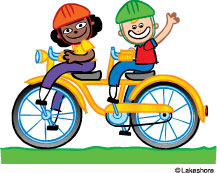 217x173 Kids Bike Clip Art