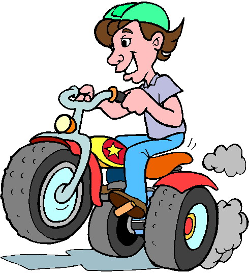 490x536 Kids Bike Survival Clipart
